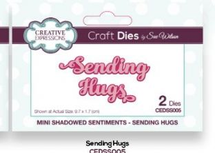 Mini Shadowed Sentiments - Sending Hugs